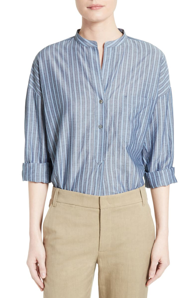 VINCE Stripe Popover Shirt, Main, color, 493