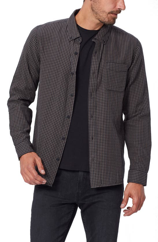Paige Langford Gingham Check Button-down Shirt In Hayden