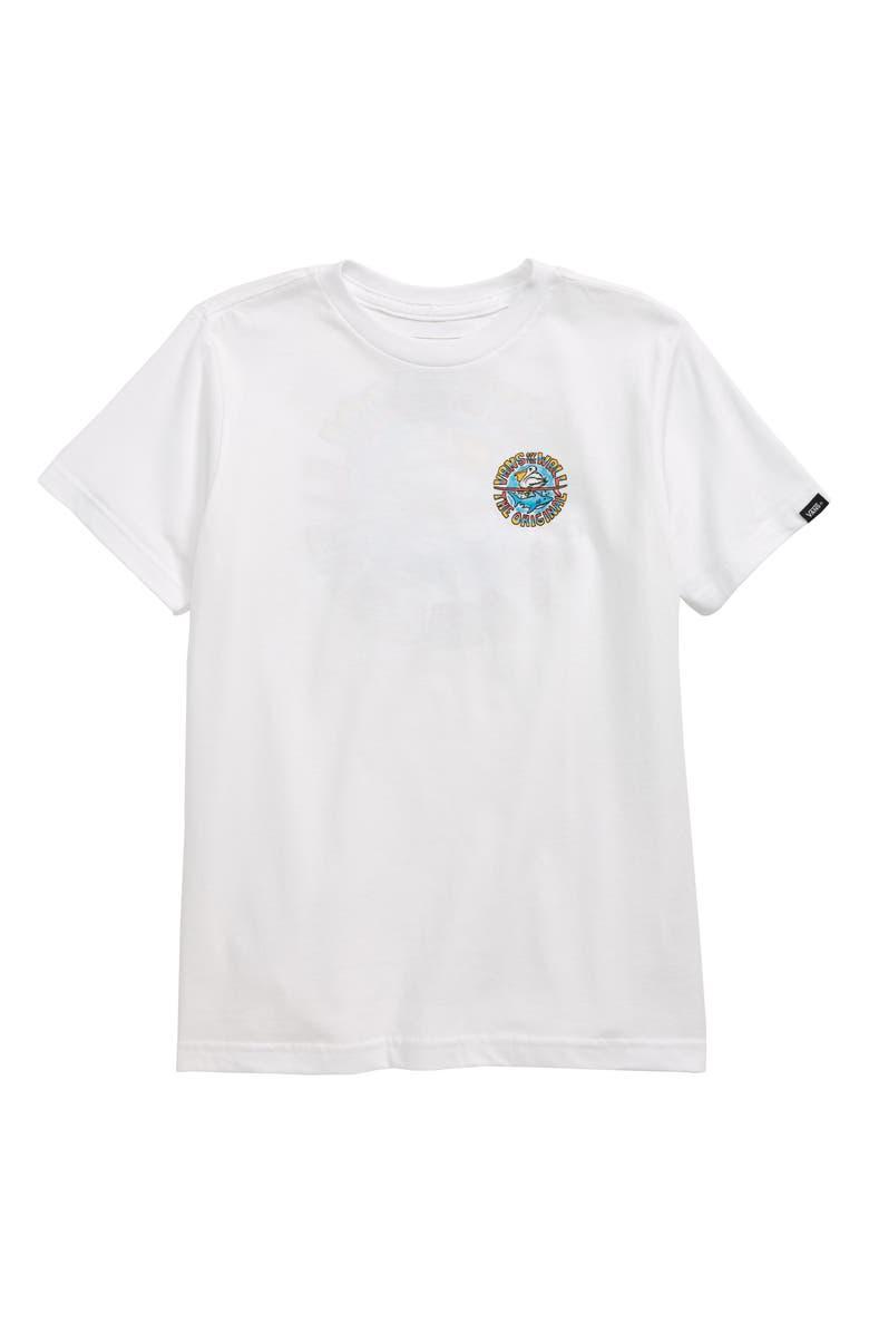 VANS Beach Leech T-Shirt, Main, color, 100