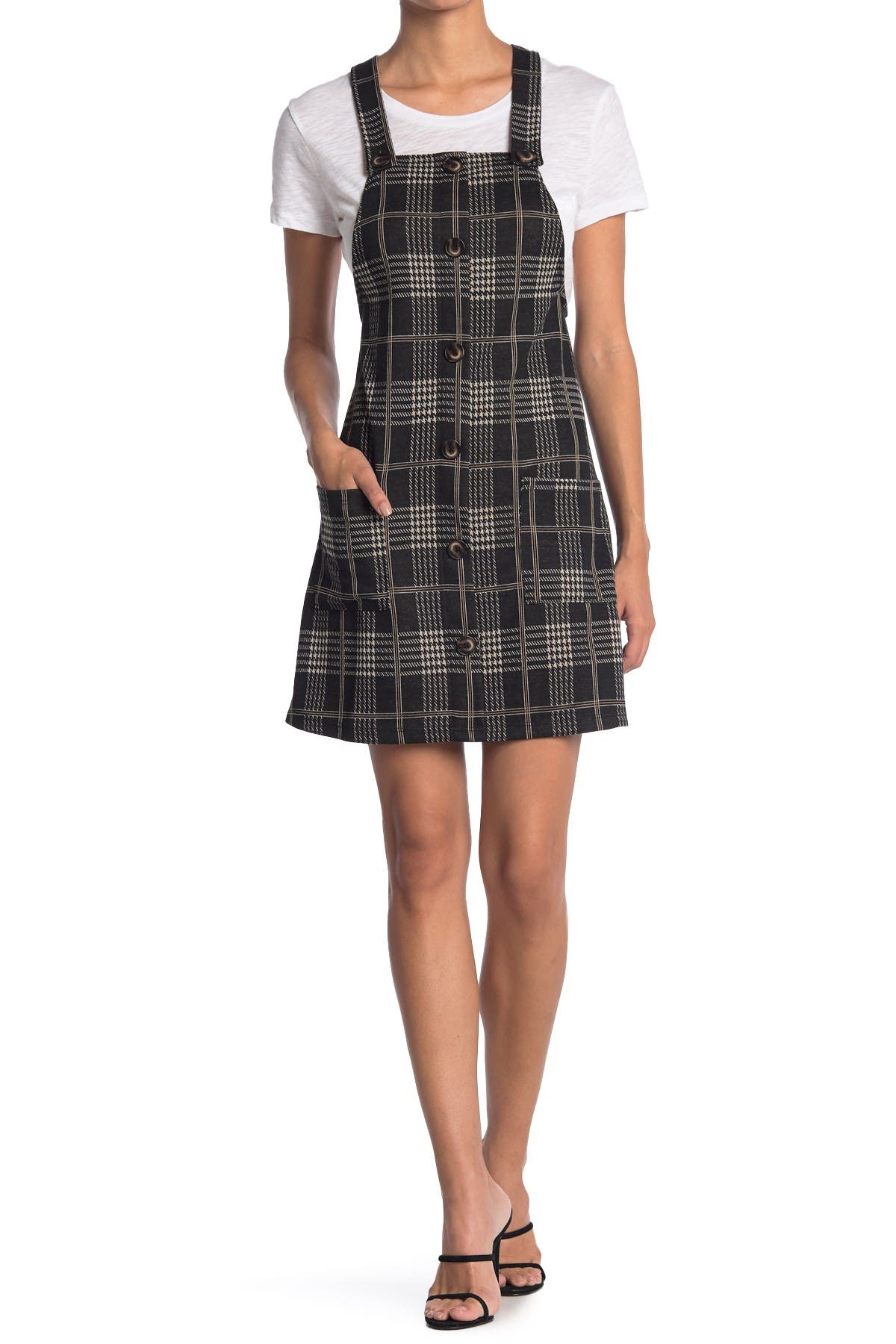 Image of KENEDIK Plaid Double Knit Overall Dress