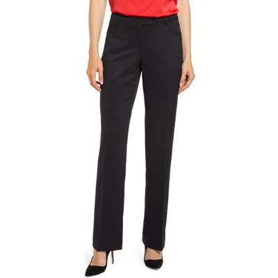Anne Klein Mini Flare Leg Black Pants, Black
