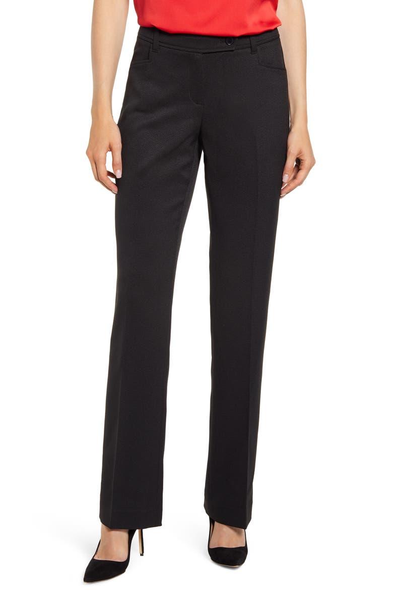 ANNE KLEIN Mini Flare Leg Black Pants, Main, color, ANNE BLACK