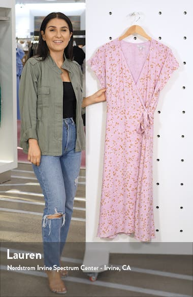 Bethwyn Floral Wrap Dress, sales video thumbnail