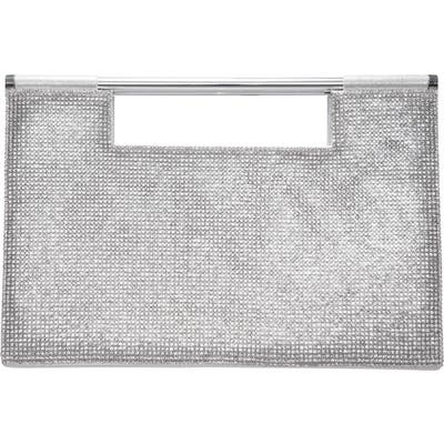Nina Crystal Embellished Top Handle Bag - Metallic