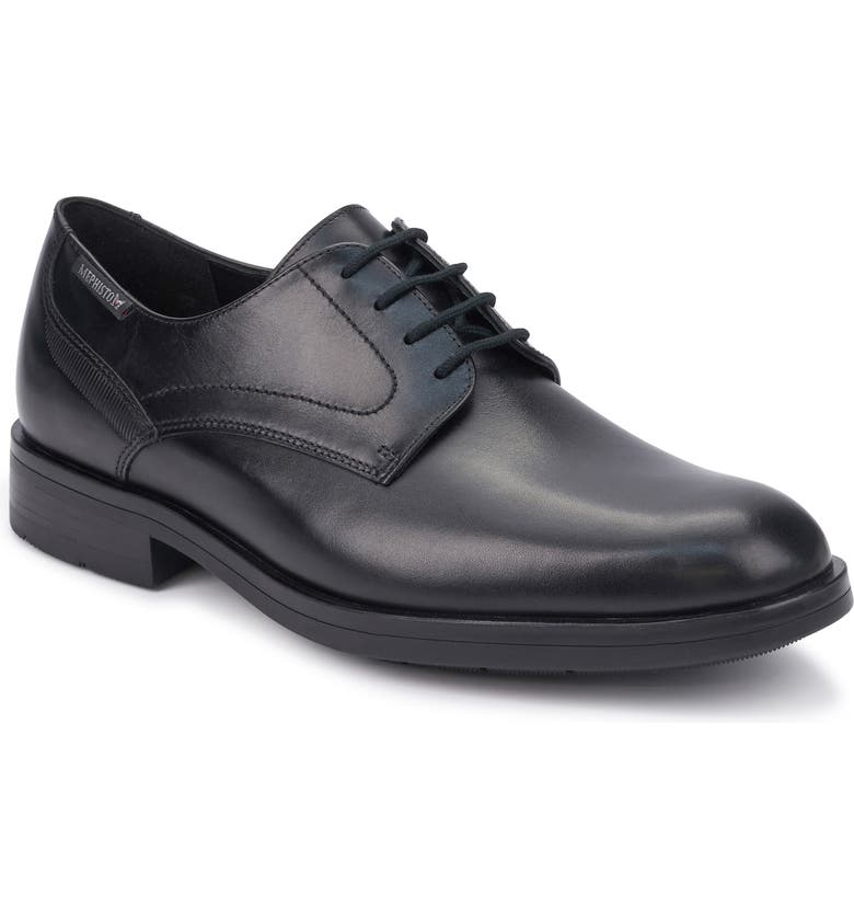 MEPHISTO Smith Plain Toe Derby, Main, color, BLACK LEATHER