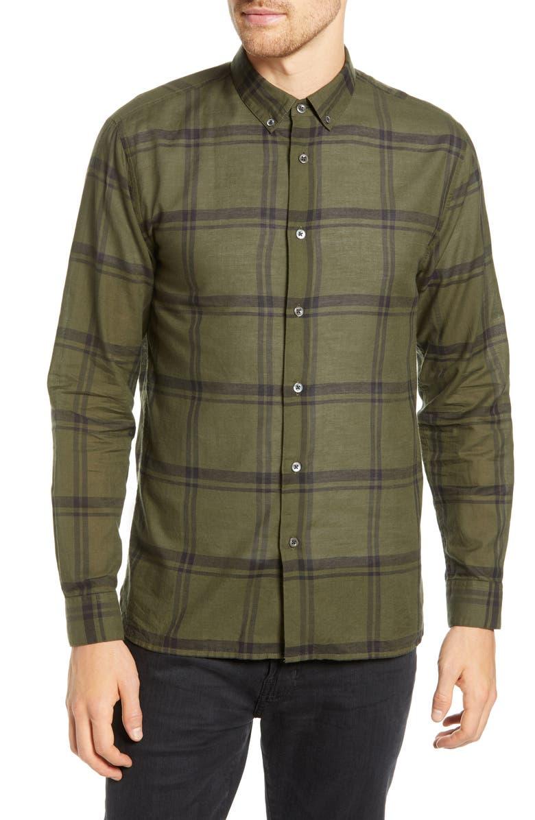 BLDWN Davis Slim Fit Plaid Sport Shirt, Main, color, 301