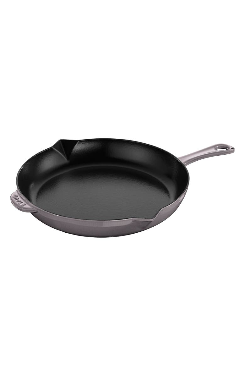 STAUB 12-Inch Enameled Cast Iron Fry Pan, Main, color, GRAPHITE