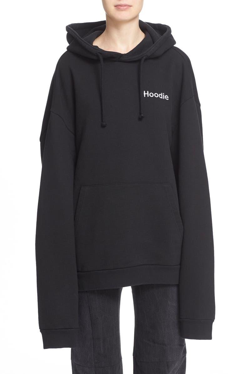 VETEMENTS Oversize Hoodie, Main, color, 001