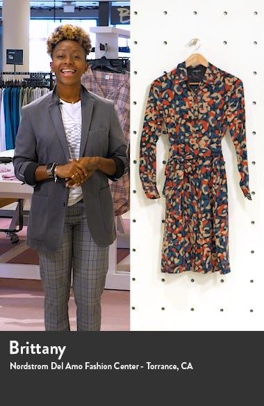 Mona Print Long Sleeve Silk Shirtdress, sales video thumbnail