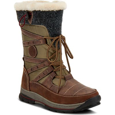 Spring Step Brurr Faux Fur Lined Waterproof Snow Boot - Brown