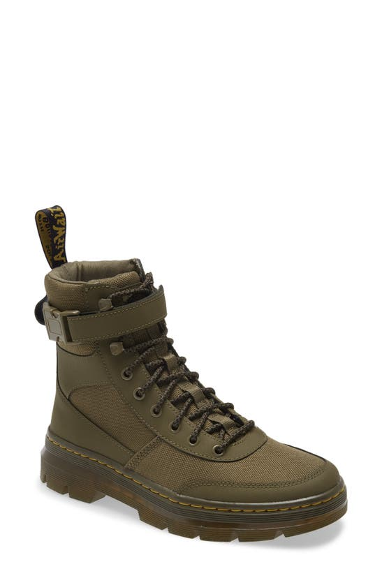 Dr. Martens Combs Tech Boot In Khaki-green In Dms Olive