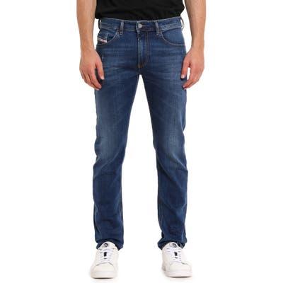 Diesel Thommer Distressed Slim Fit Jeans, Blue