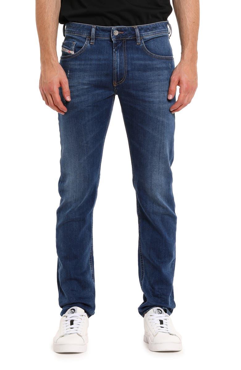 DIESEL<SUP>®</SUP> Thommer Distressed Slim Fit Jeans, Main, color, 083AZ