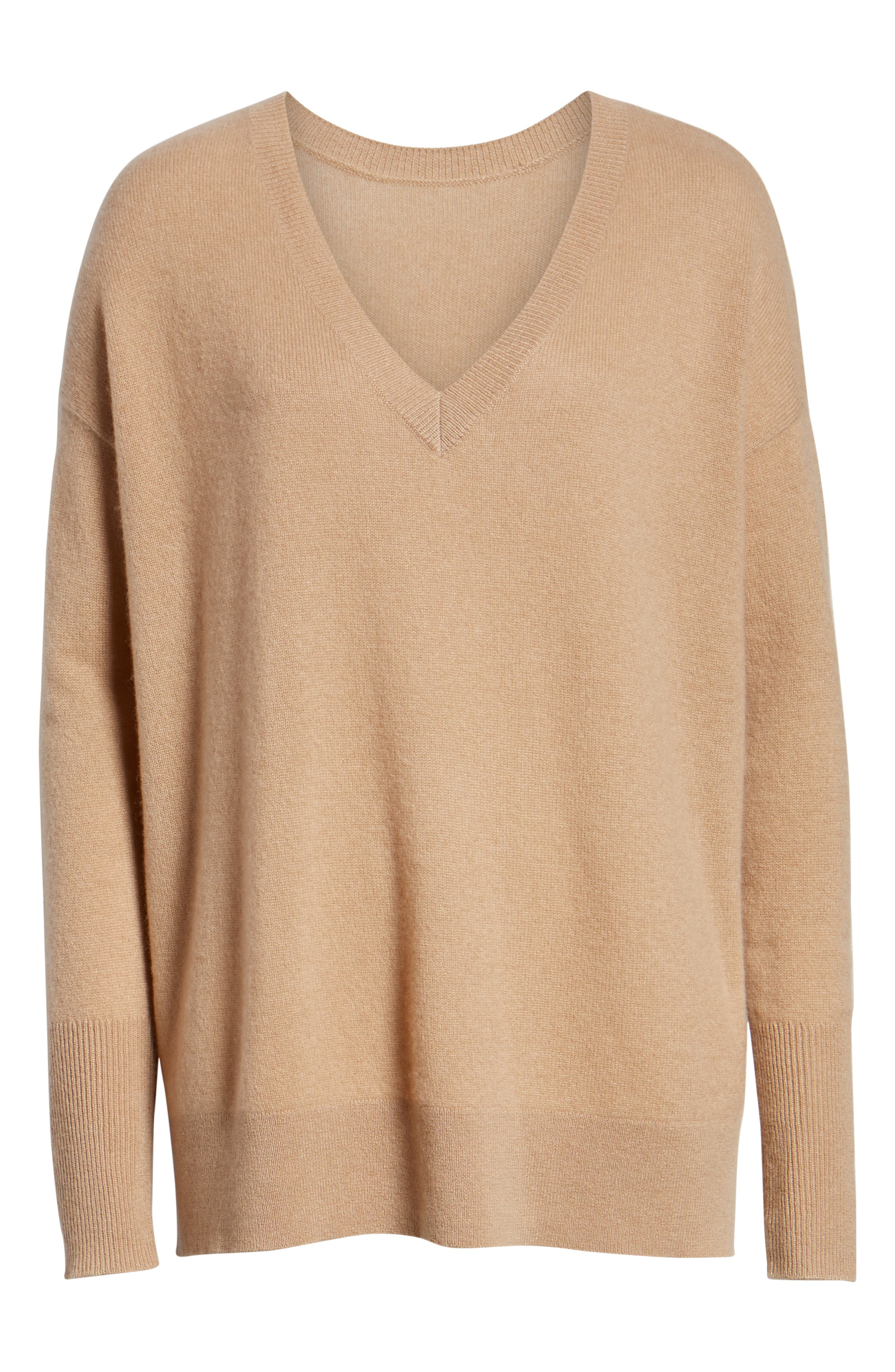 ,                             Relaxed V-Neck Cashmere Sweater,                             Alternate thumbnail 41, color,                             230