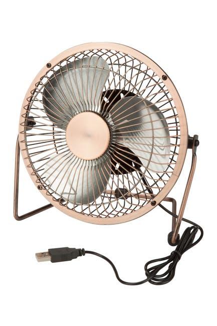 Image of Honey-Can-Do Bronze USB Powered Desk Fan
