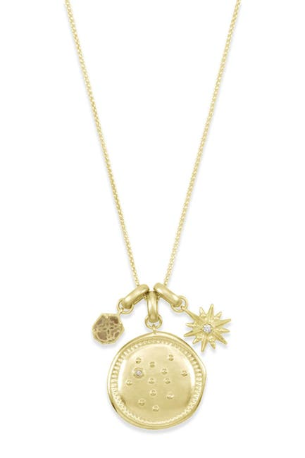 Image of Kendra Scott 14K Gold Plated Sagittarius Charm Necklace