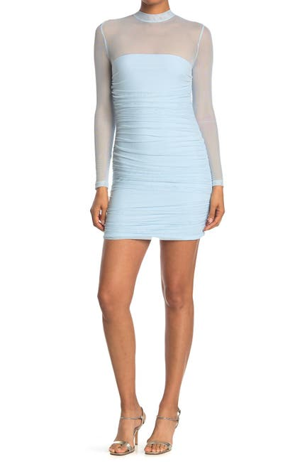 Image of Love by Design Long Sleeve Sheer Top Bodycon Dress