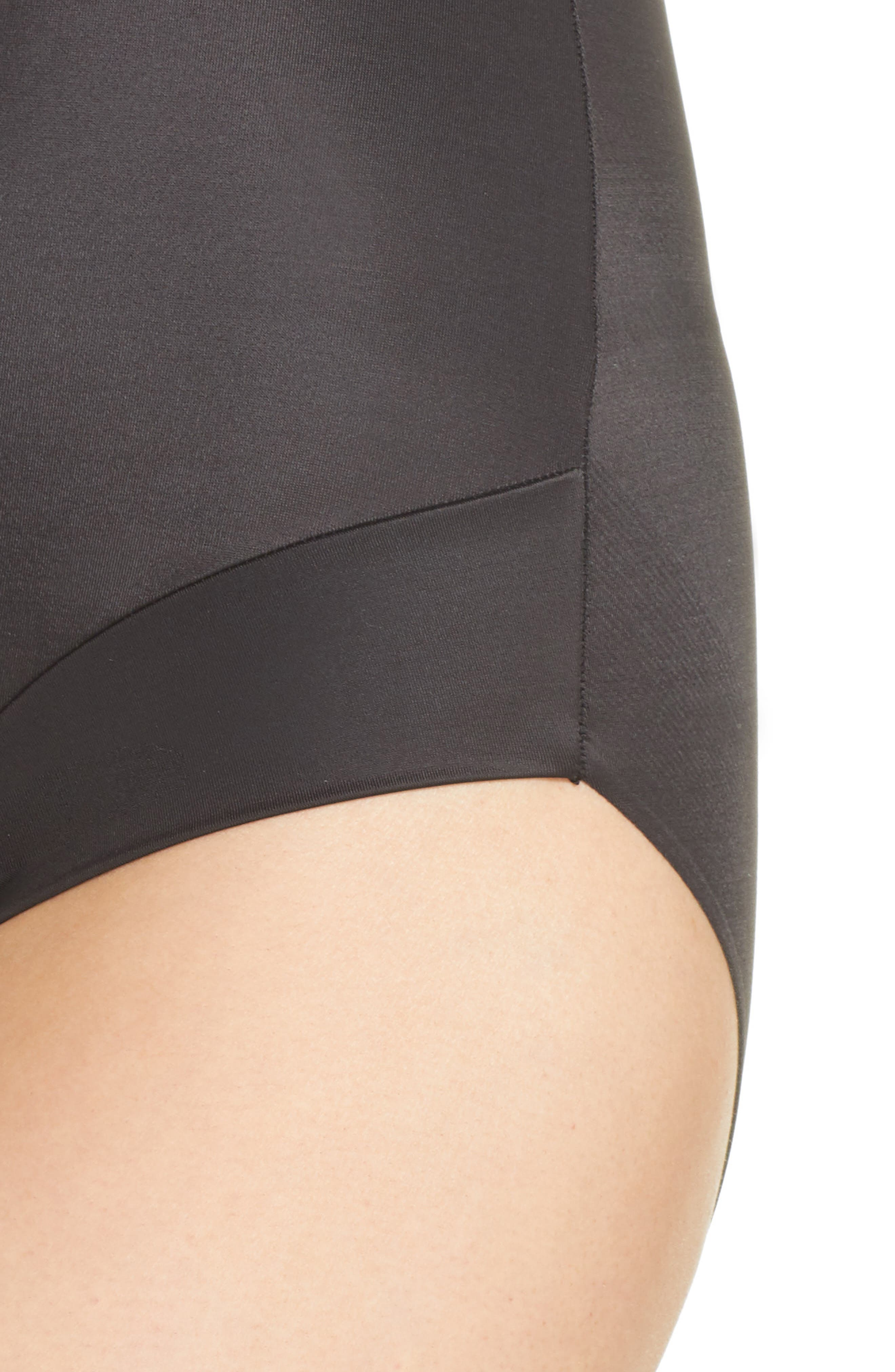 ,                             Back Magic<sup>®</sup> Brief Shaping Bodysuit,                             Alternate thumbnail 4, color,                             BLACK