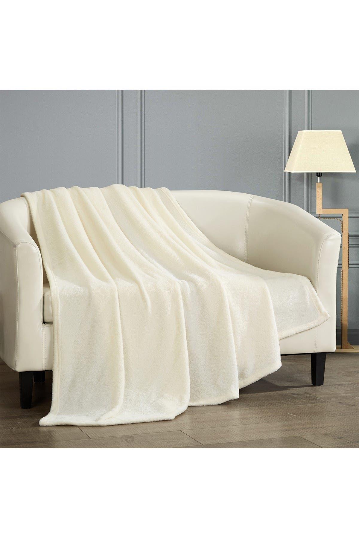 Image of Chic Home Bedding Kaeden Fleece Throw - Beige