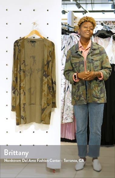 Lenox Long Cotton Blend Cardigan, sales video thumbnail