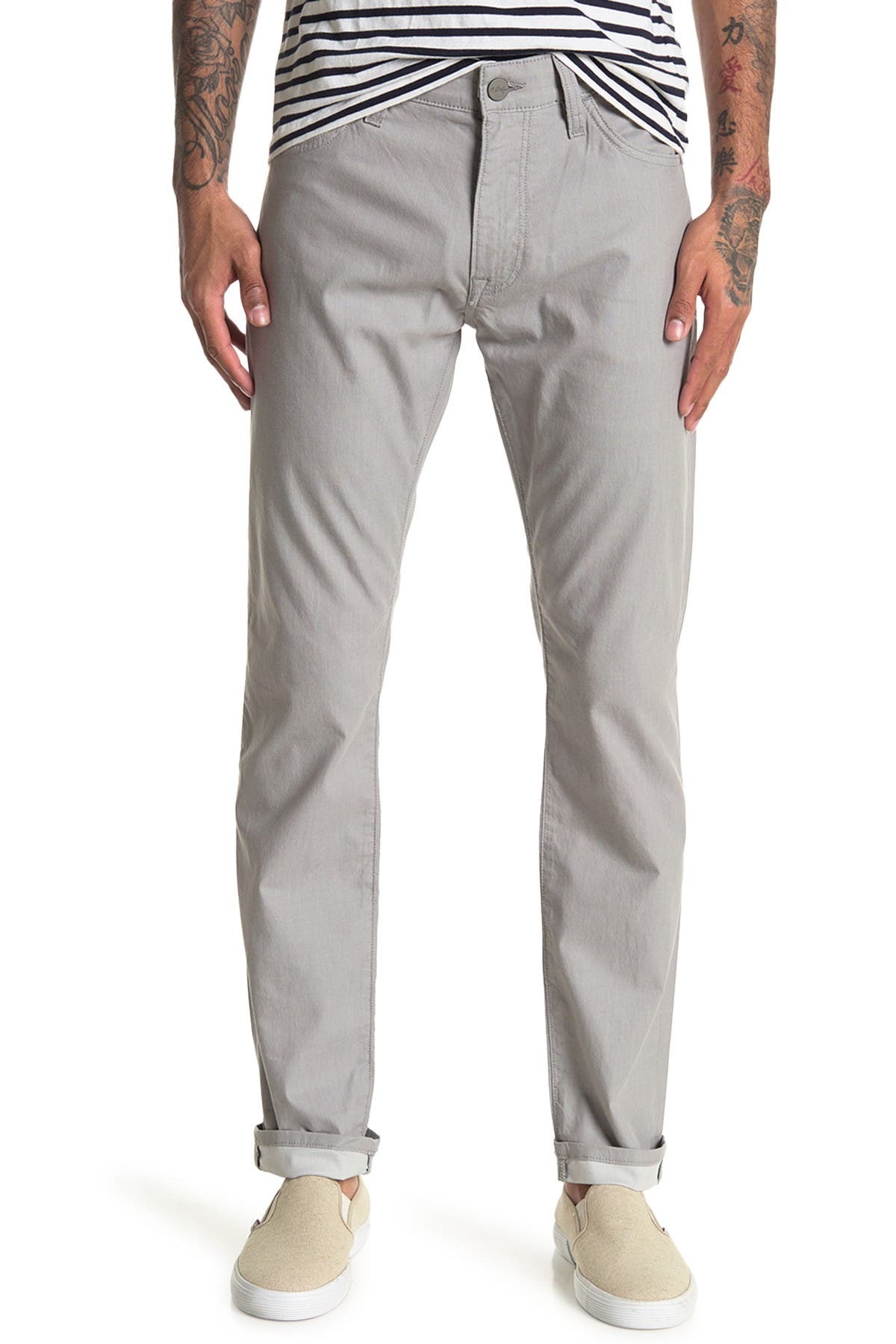 Image of 34 Heritage 34 Cool Grey Reversed Twill Pants
