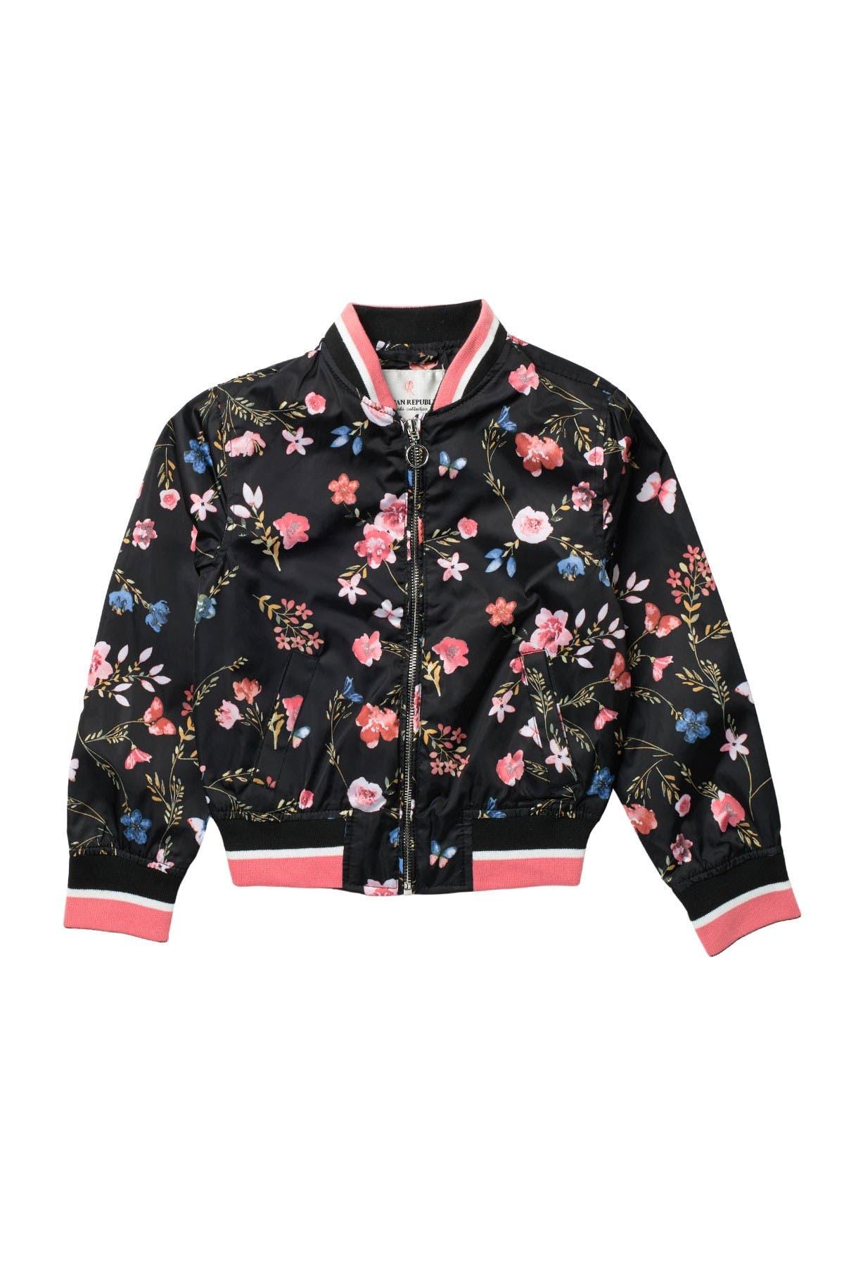 Image of Urban Republic Floral Sateen Bomber Jacket