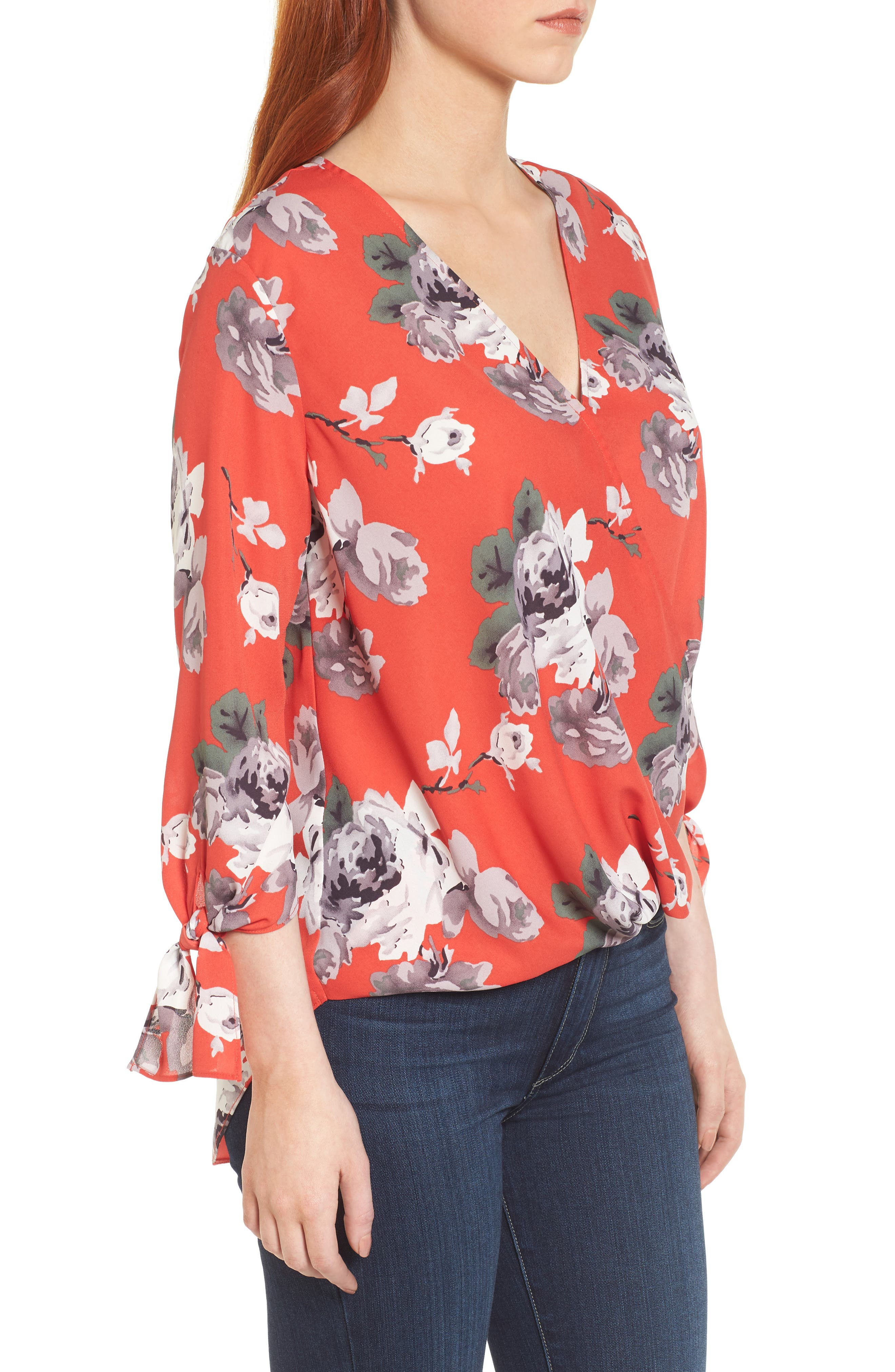 ,                             Surplice Neck Top,                             Alternate thumbnail 33, color,                             604