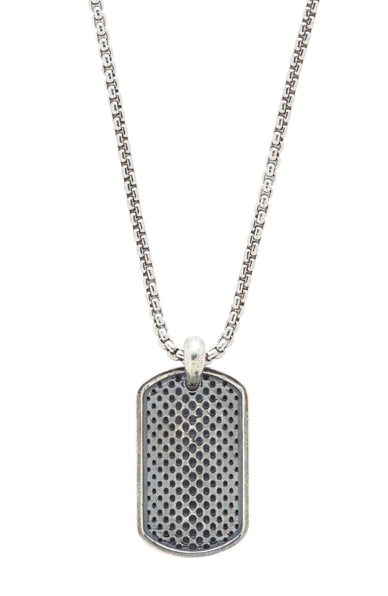 Dog Tag Pendant Necklace