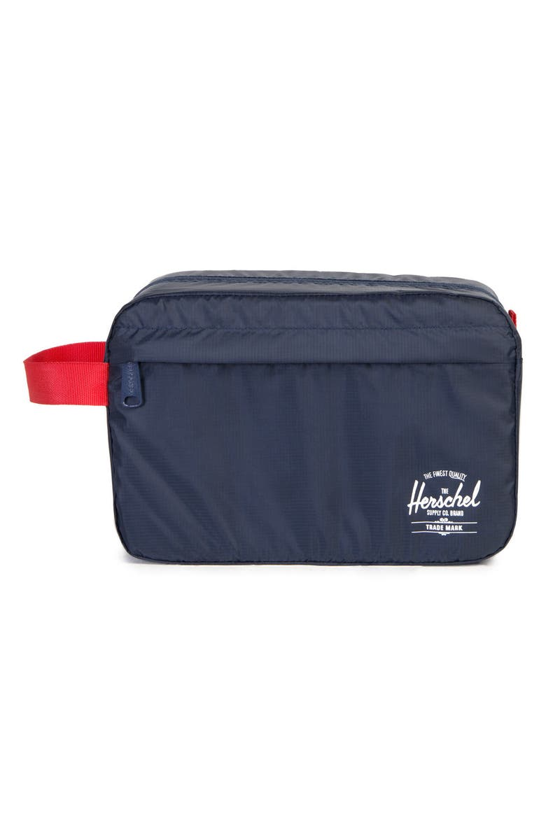 HERSCHEL SUPPLY CO. Toiletry Bag, Main, color, NAVY/ RED