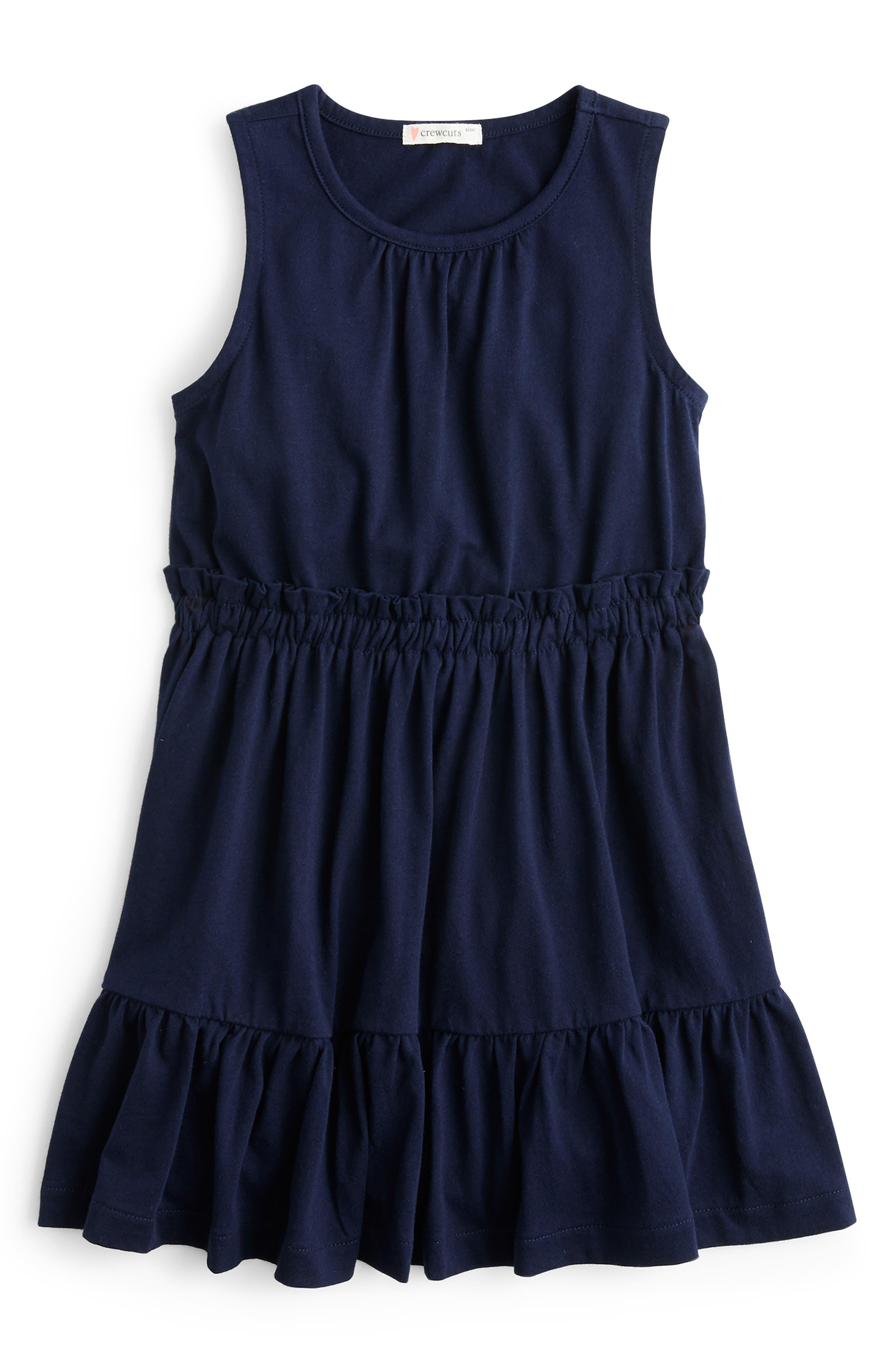 Toddler Girls Crewcuts By Jcrew Sleeveless Ruffle Dress Size 2T  Blue