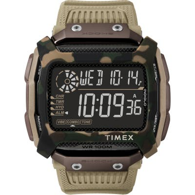 Timex Command(TM) Shock Digital Silicone Strap Watch, 5m