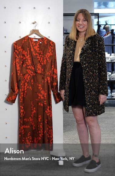 Willow Faux Wrap Silk Midi Dress, sales video thumbnail