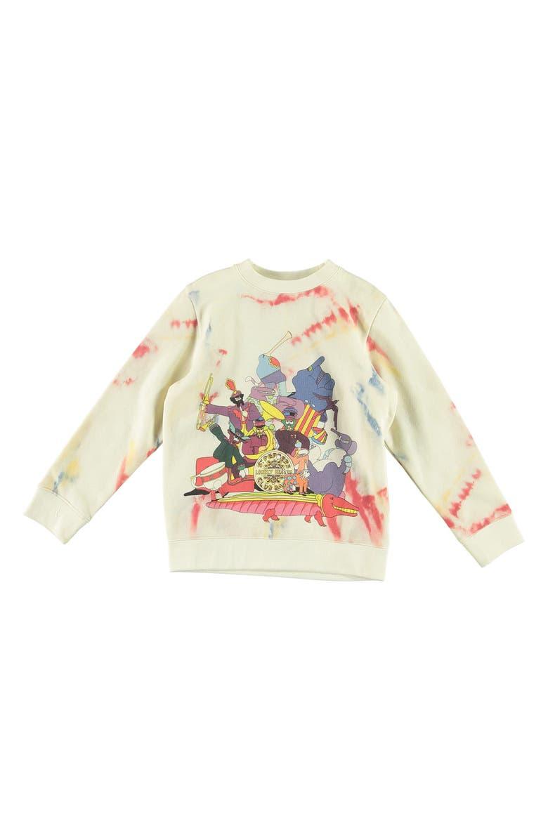 STELLA MCCARTNEY KIDS The Beatles Organic Cotton Sweatshirt, Main, color, IVORY