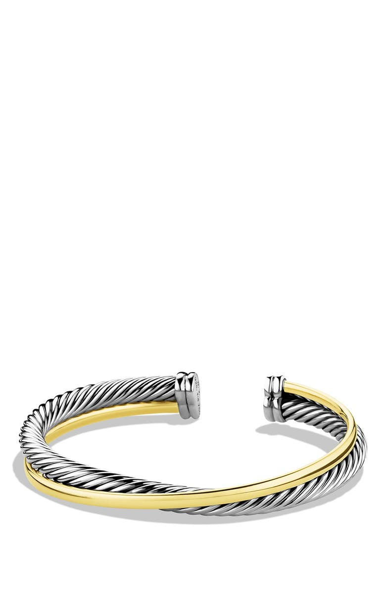 DAVID YURMAN 'Crossover' Cuff with Gold, Main, color, TWO TONE