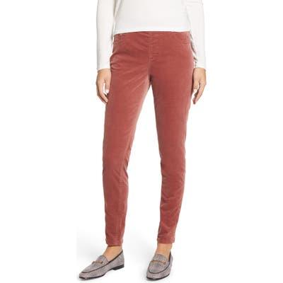 Jag Jeans Maya Pull-On Skinny Velvet Pants, Pink