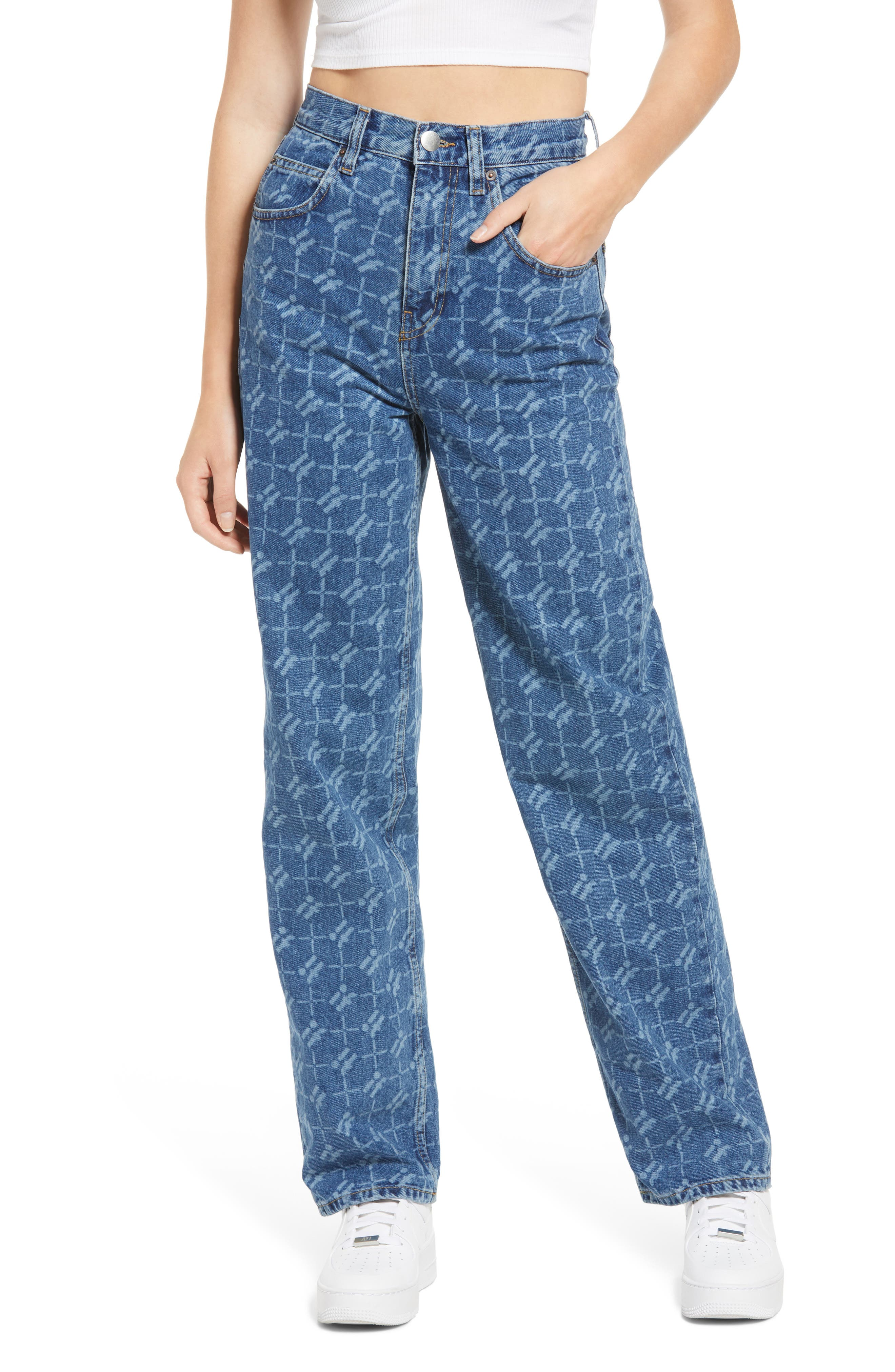 Monogram High Waist Jeans