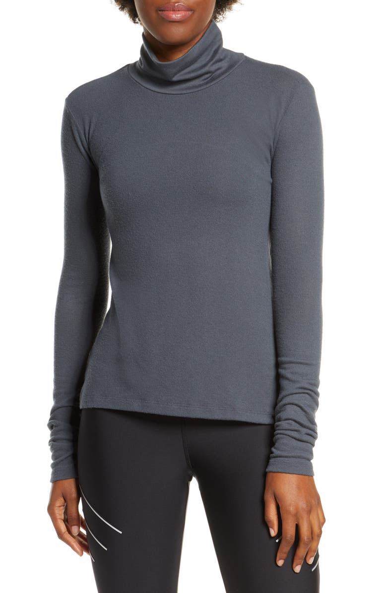 ALO Embrace Long Sleeve Turtleneck, Main, color, ANTHRACITE