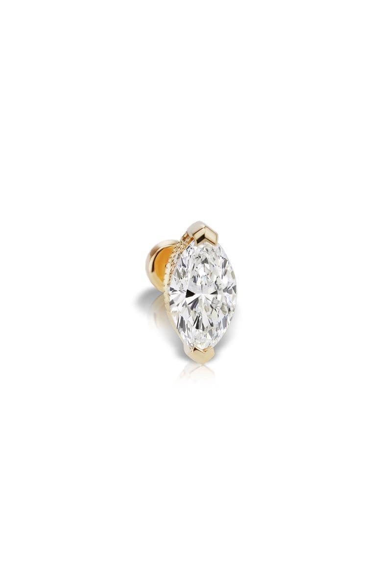 MARIA TASH Marquise Marquise Diamond Threaded Stud Earring, Main, color, YELLOW GOLD/ DIAMOND