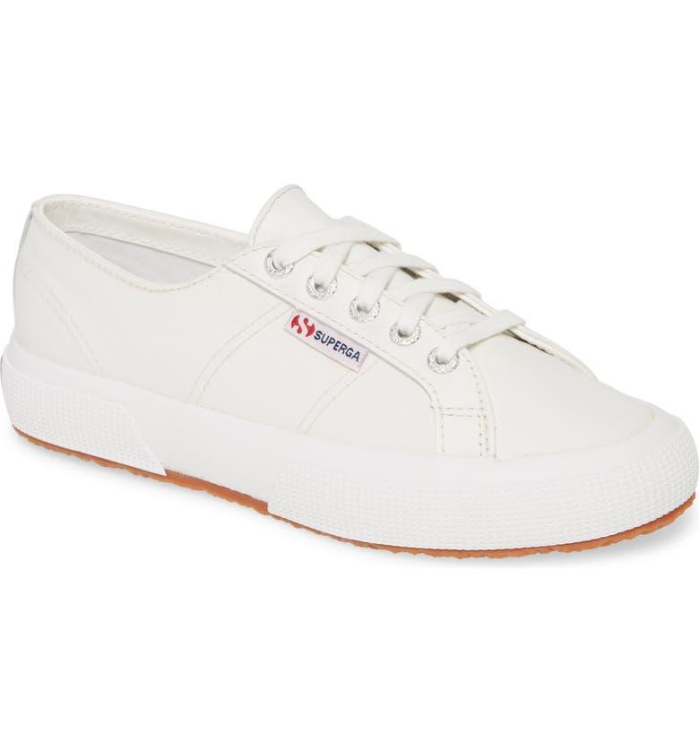 SUPERGA 2750 Nappaleaw Sneaker, Main, color, WHITE