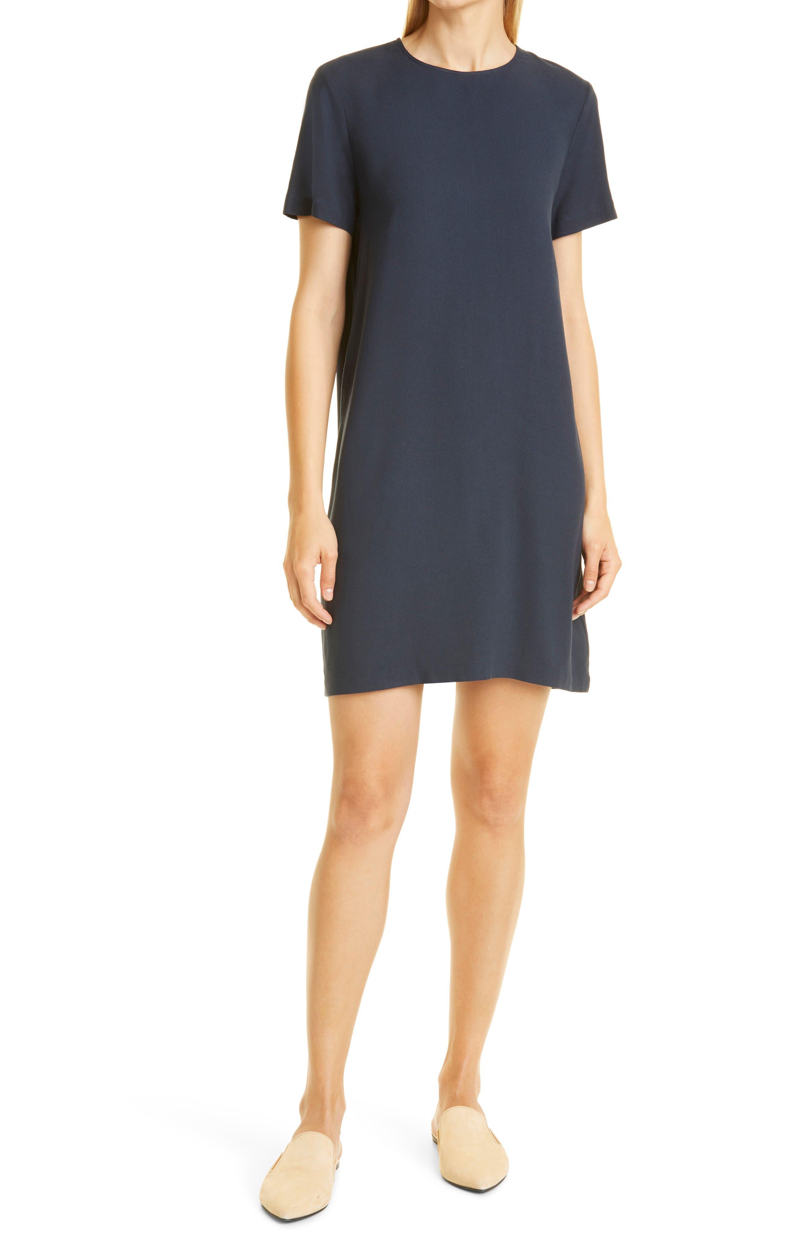 Crepe T-Shirt Dress