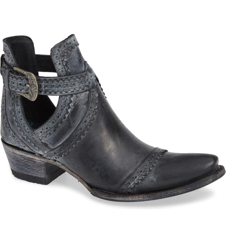 LANE BOOTS Cahoots Bootie, Main, color, BLACK LEATHER