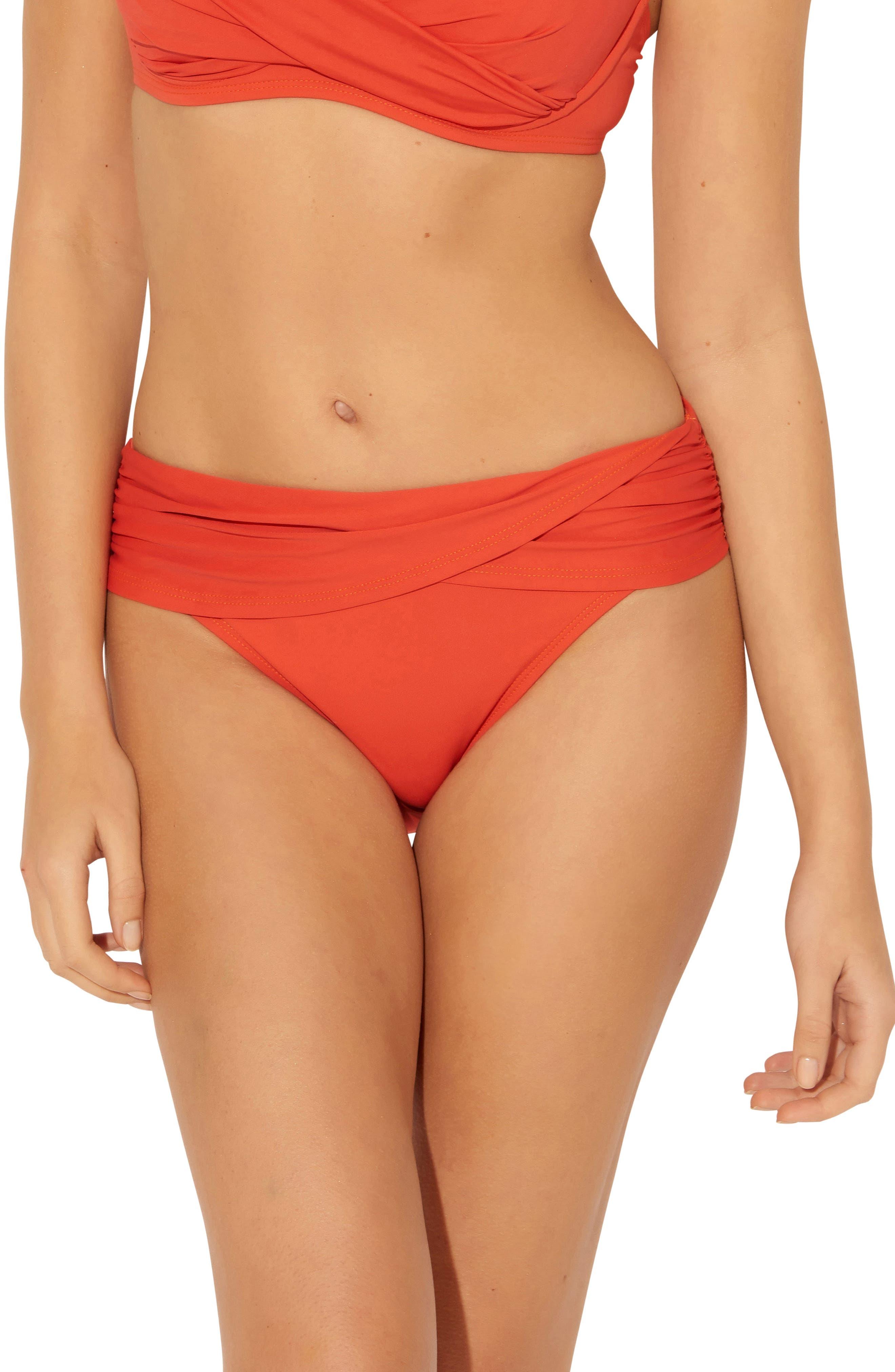 Bleu By Rod Beattie Sarong Hipster Bikini Bottoms, Orange