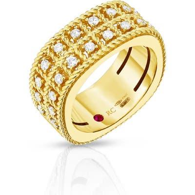 Roberto Coin Byzantine Double Row Diamond Ring