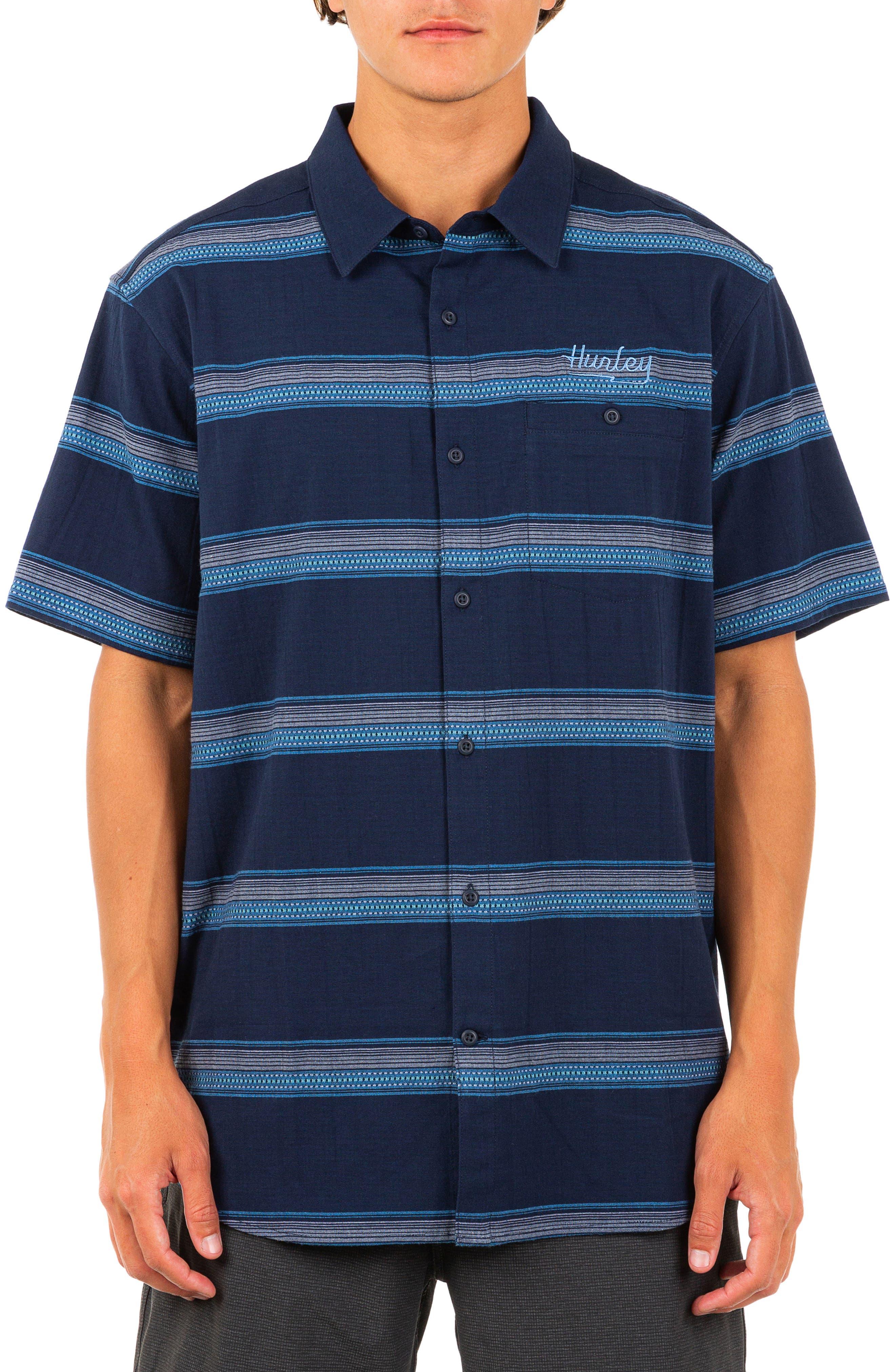 Miles Stretch Cotton Short Sleeve Button-Up Shirt