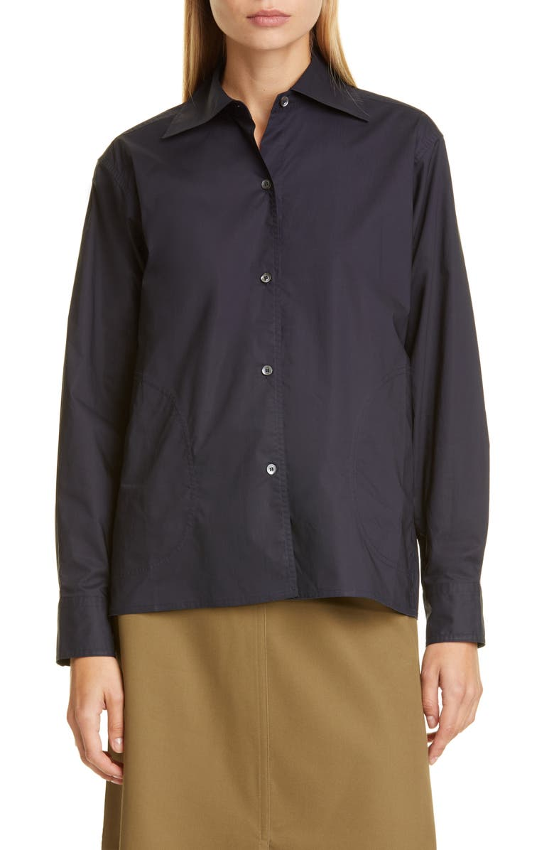 SOFIE D'HOORE Pocket Detail Poplin Shirt, Main, color, 410