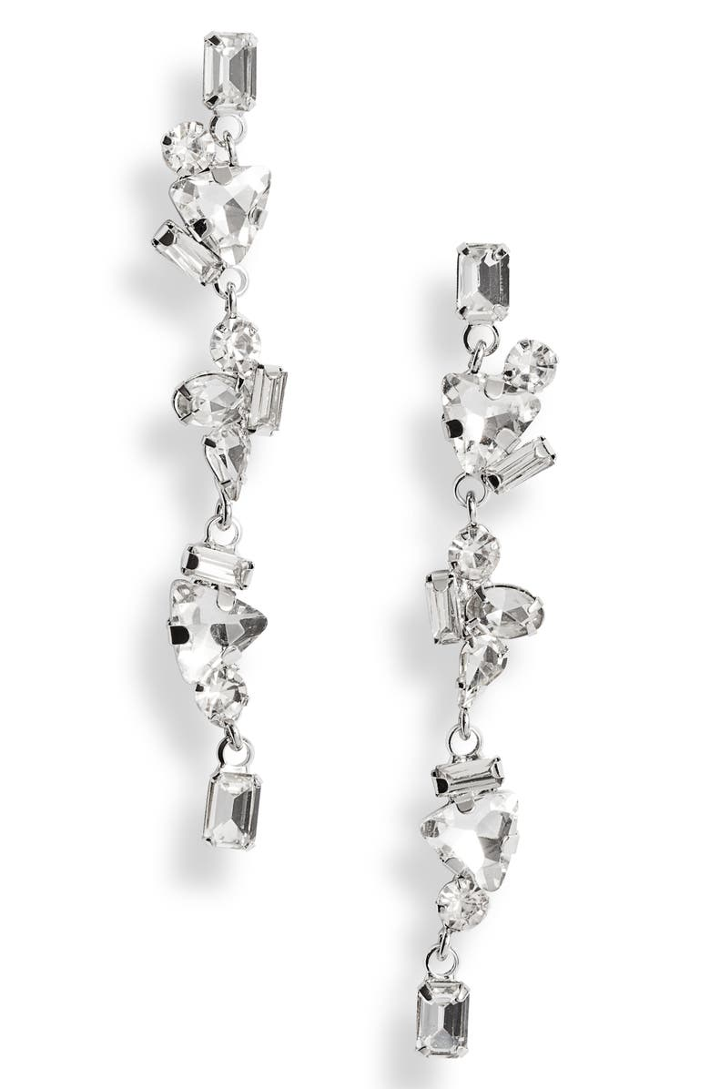 CRISTABELLE Fancy Crystal Cluster Linear Earrings, Main, color, 040