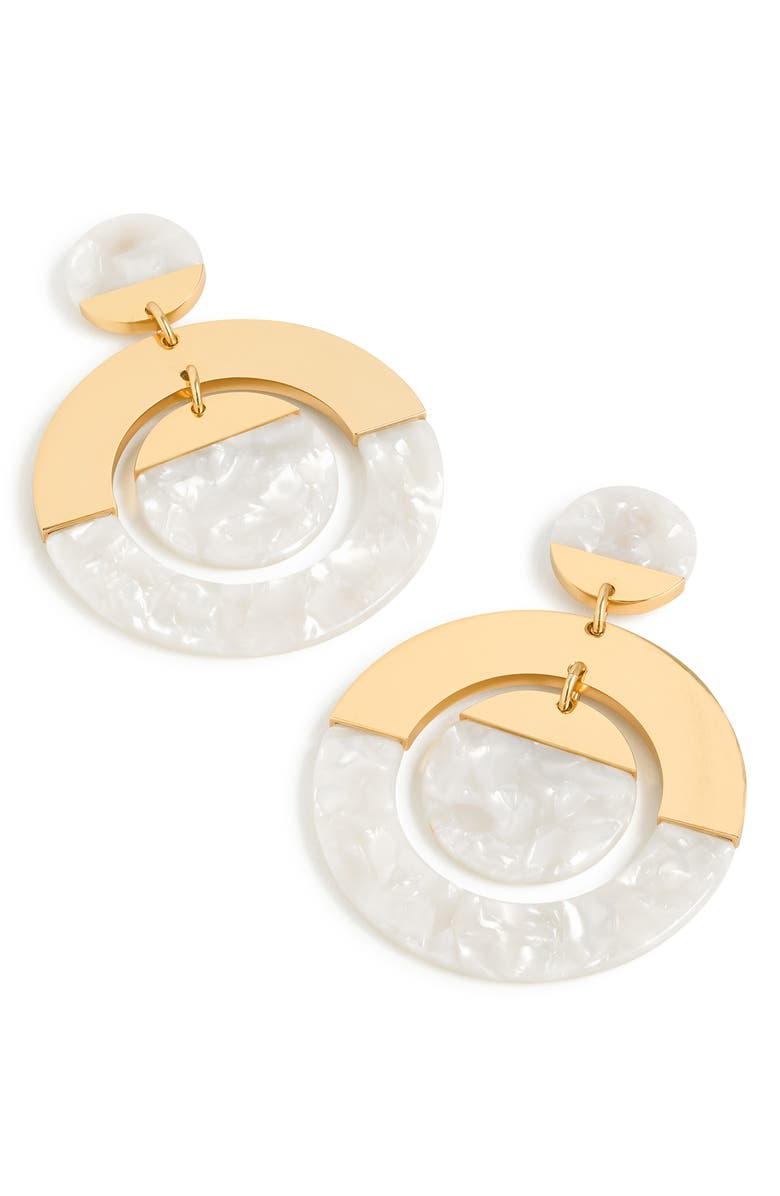 J Crew Tortoiseshell Double Disc Earrings
