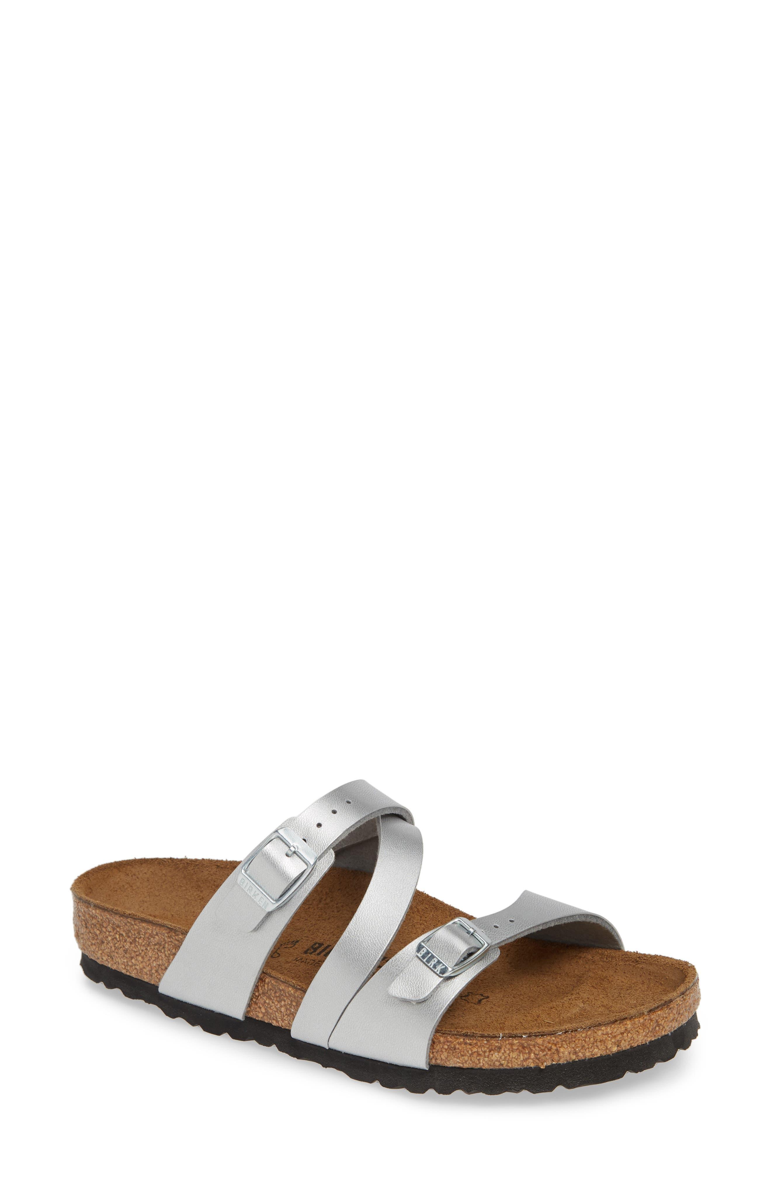 Birkenstock Salina Slide Sandal,7.5 - Metallic