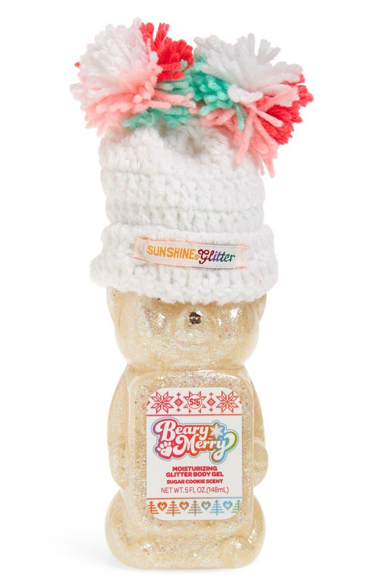 SUNSHINE & GLITTER Beary Merry Moisturizing Glitter Body Gel, Main, color, 100