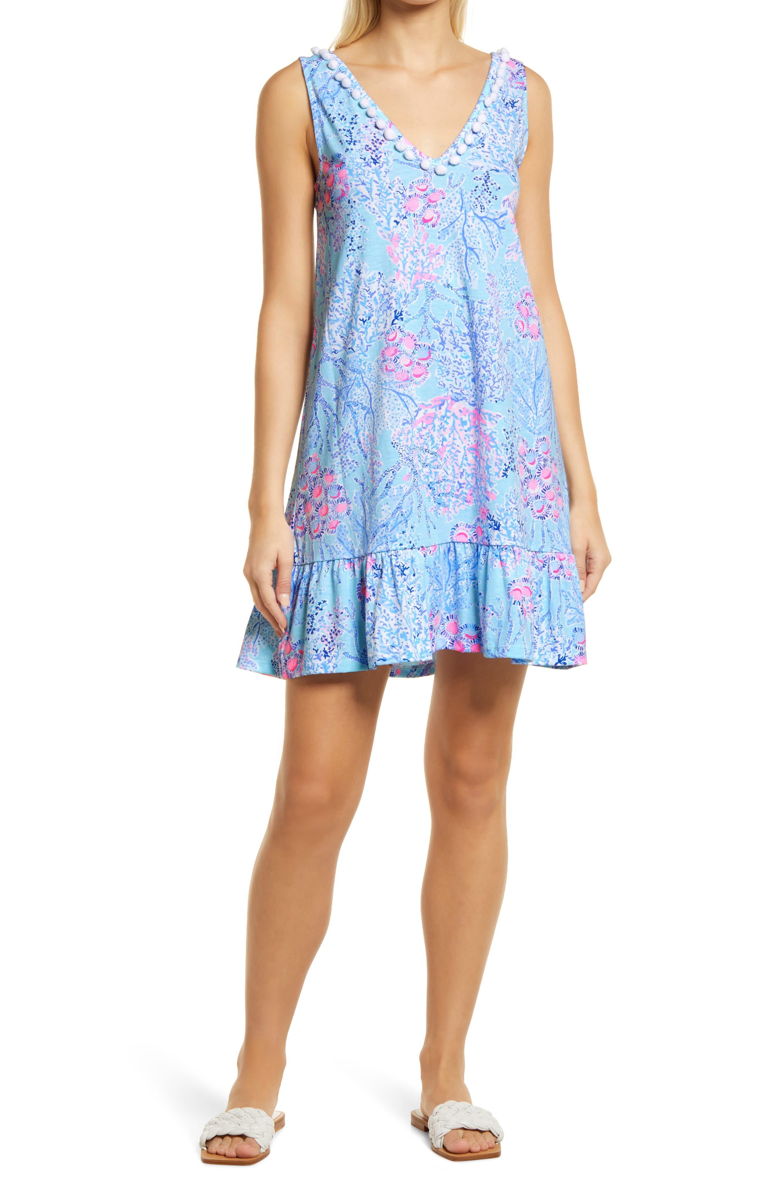 Women's Lilly Pulitzer Camilla Sleeveless Cotton A-Line Dress